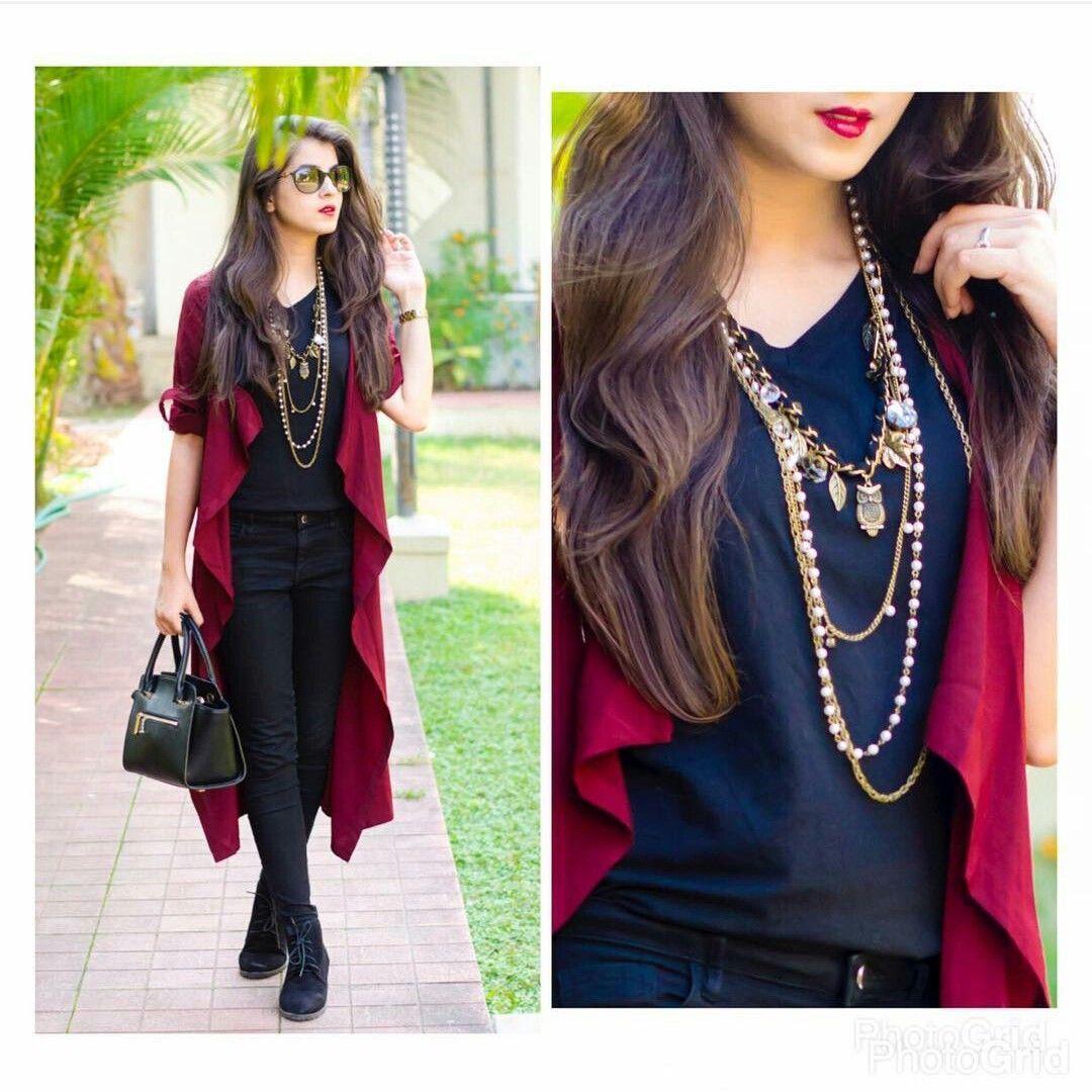 Pin By Aastha Bharti On Own Works As Hobby Shrug For Dresses Fashion Long Shrug [ 1080 x 1080 Pixel ]