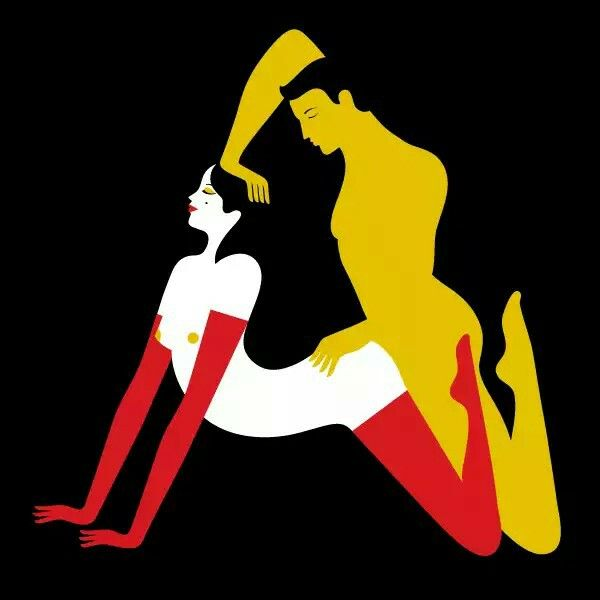 """""""A"""" from the Kama Sutra alphabet by Malika Favre Originally commisionned by Penguins Books in 2011"""