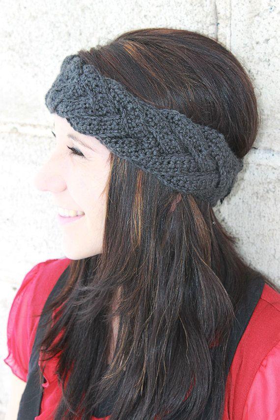 crochet braided headband  90e31094223