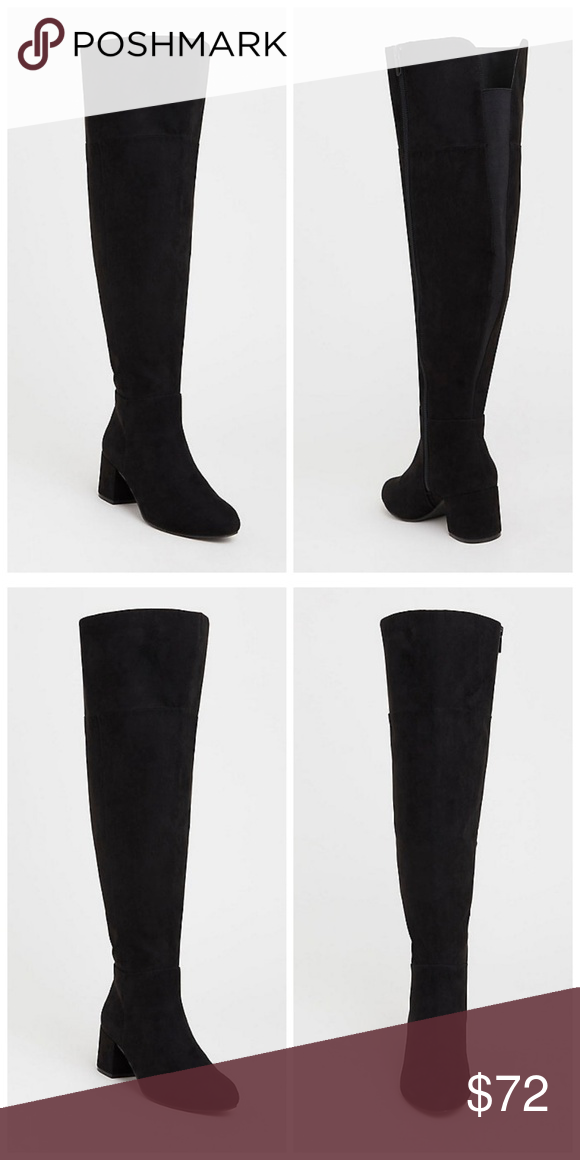 457c75de63a Torrid Black Faux Suede Over The Knee Boots 11W This is a classic over-the