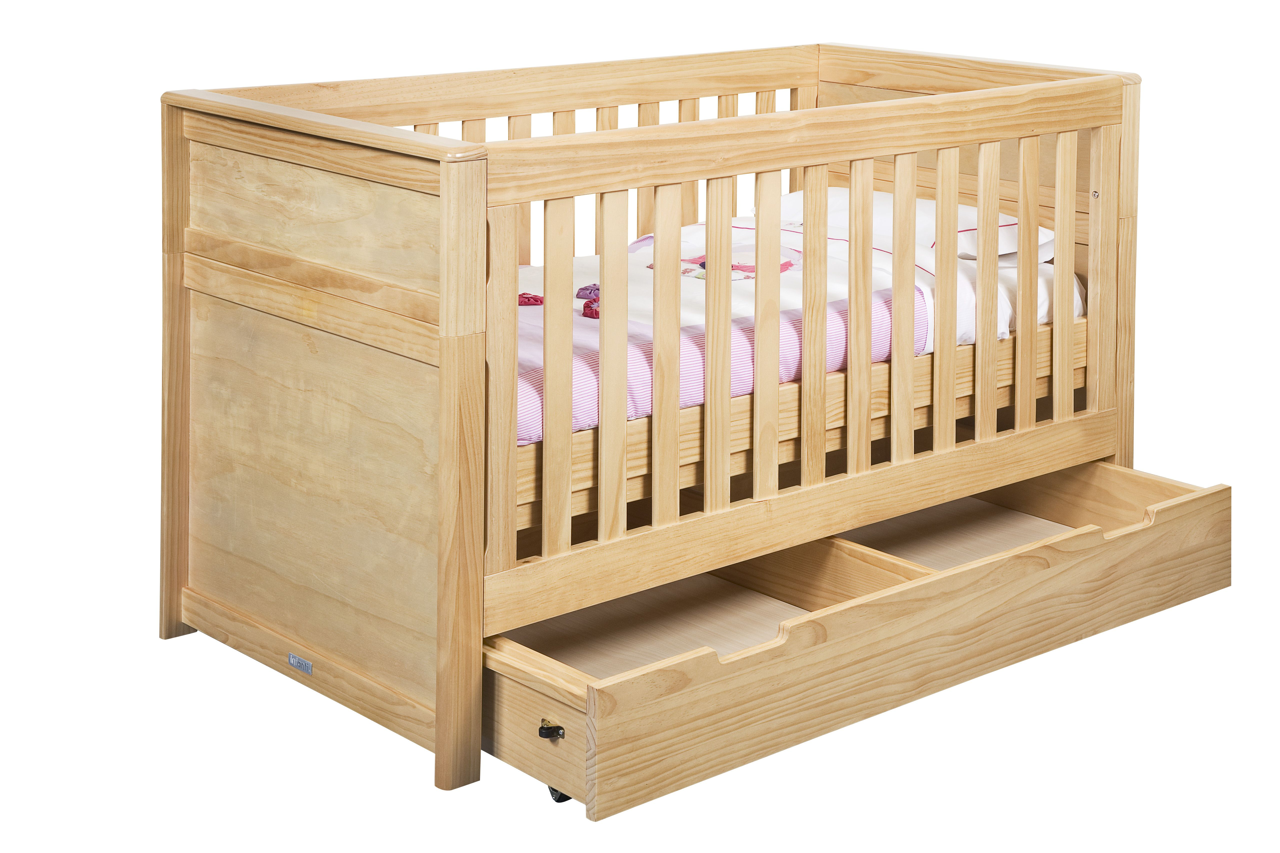 0121d202051 cuna de madera verona mc998a colch n 2 for Cunas para bebes de madera