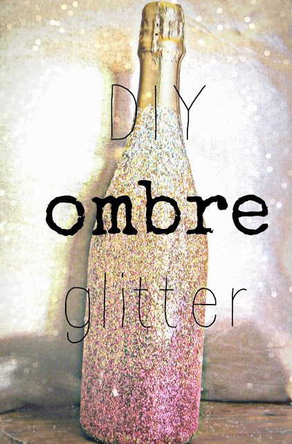 Decorating Wine Bottles With Glitter Diy Wedding Decor Ideas  Glitter Champagne Bottles Diy Ombre
