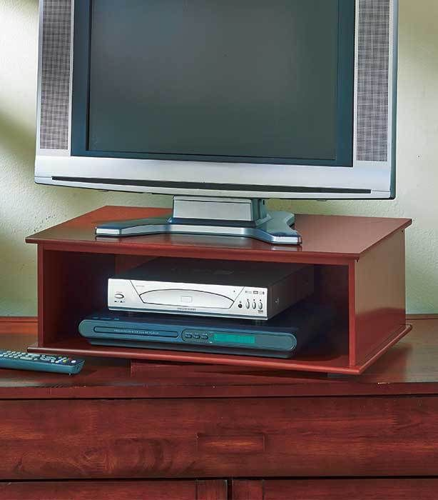 Walnut TV And DVD Swivel Stands Walnut 360 Degree Turntable TV Great For  Gaming