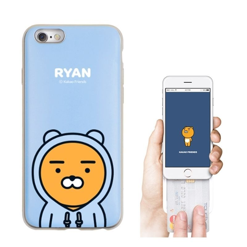 super popular 0dae5 8d0e8 Kakao Friends Mobile Phone Case Hoody Ryan iPhone 6/6s 6 plus 7 ...