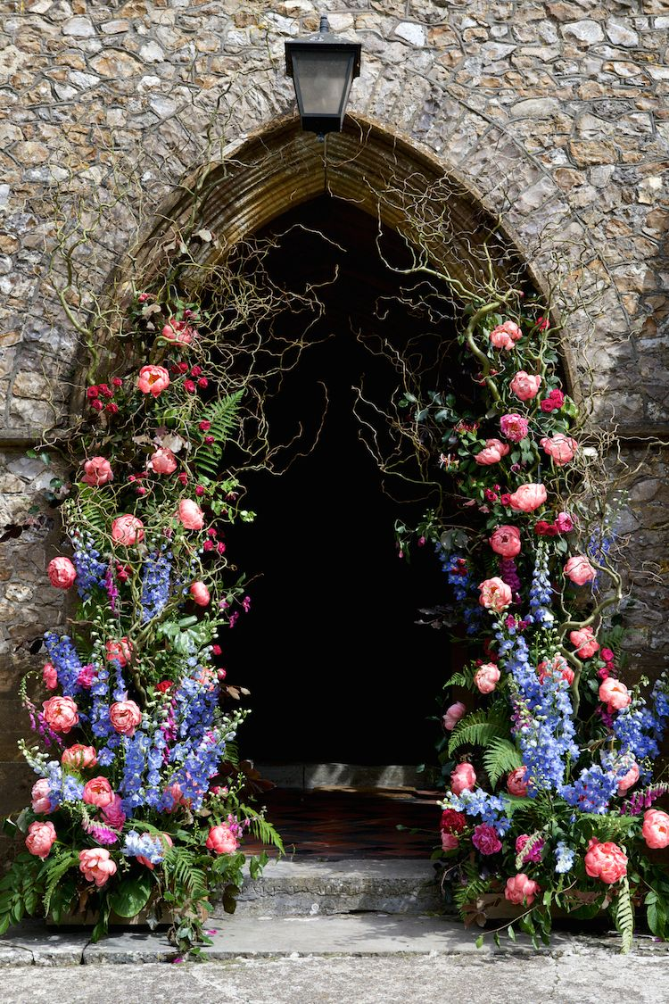 flowers for wedding arch floral artistic farm wedding church flowers 4269