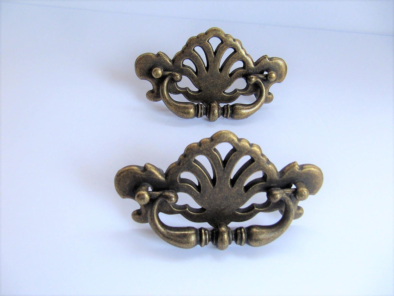 Vintage Drawer Pulls Pair Of Bronze Pulls Diy Reclaimed Hardware