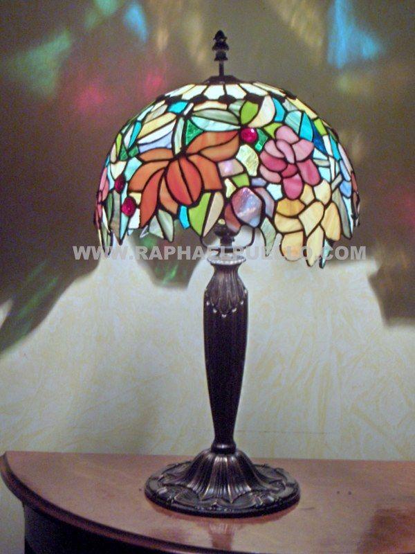 Jardin Tropical 386 Piezas Www Raphaelpuello Com Stained Glass Lamps Lamp Glass Art