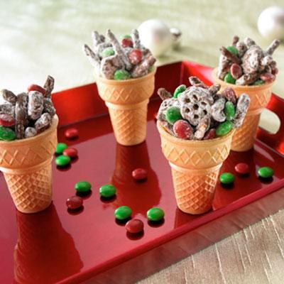 Classroom Christmas party snack idea Reindeer Munchies  This is