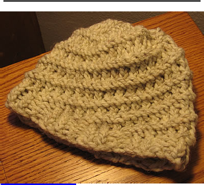 knifty knitter green round loom- spiral hat pattern