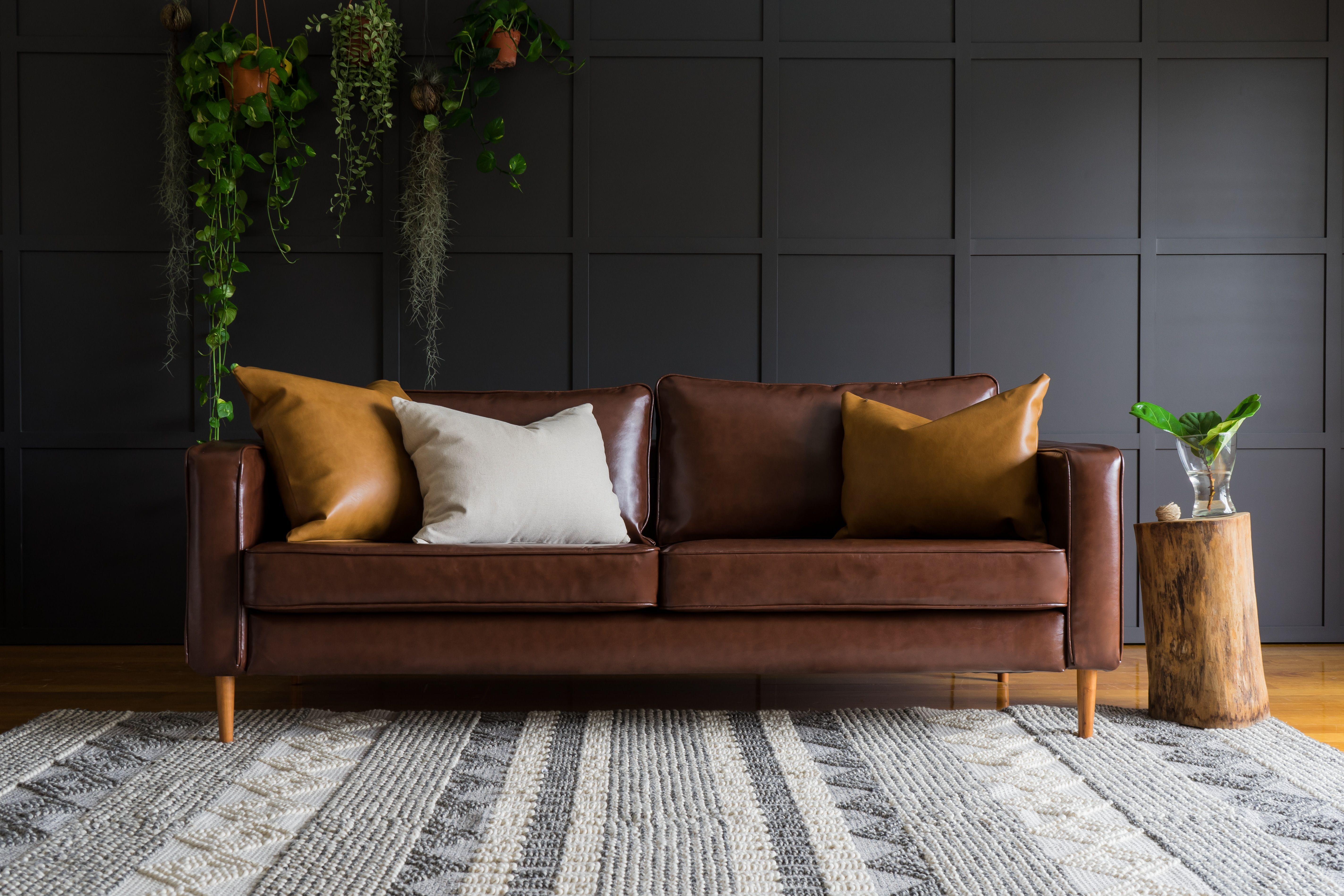 Miraculous Leather Slipcovers For The Karlstad Sofa From Ikea And Much Alphanode Cool Chair Designs And Ideas Alphanodeonline
