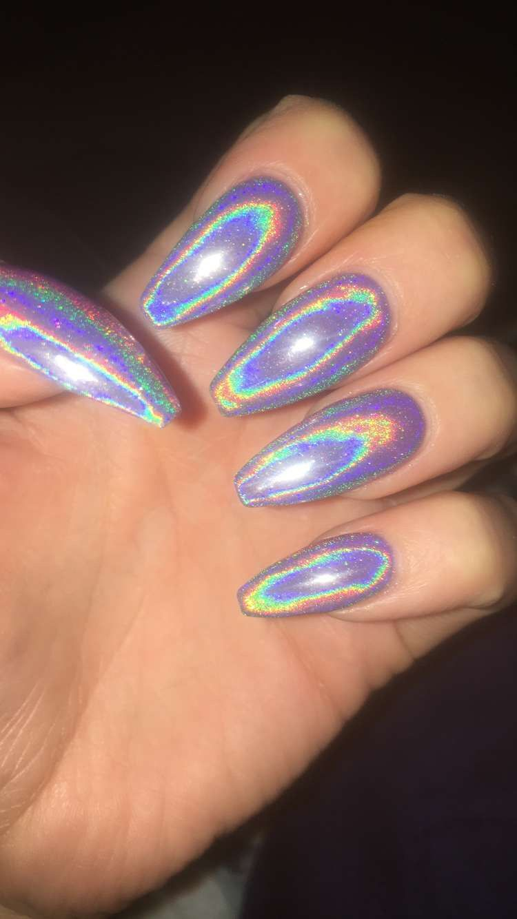 #nails #holographic nails holographic