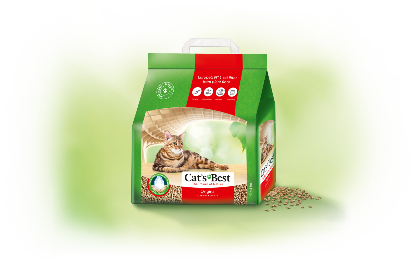 As a clumping cat litter, Cat's Best Original uses the