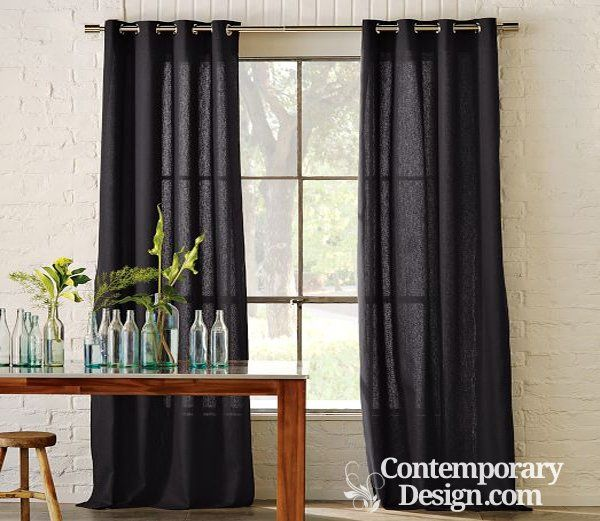 Should Curtains Touch The Floor Contemporary Curtains Curtains Living Room Elegant Curtains