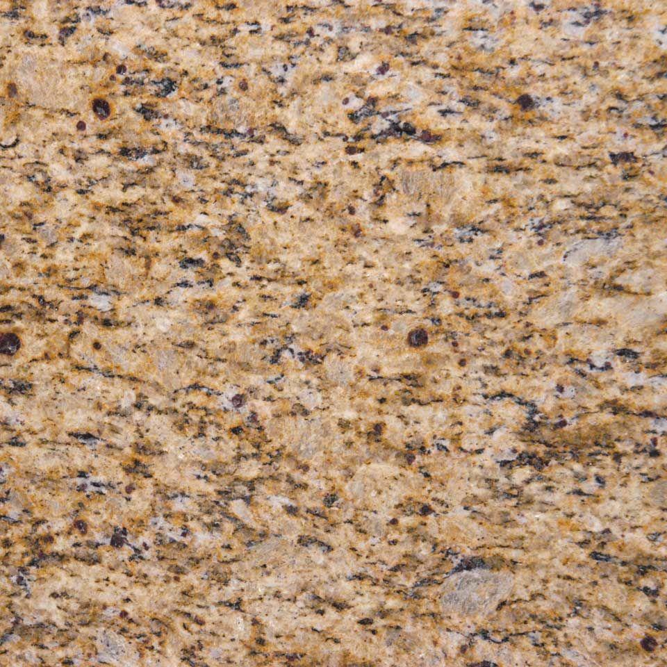 White Kitchen Cabinets Yellow Granite: Amber Yellow Granite Countertop By MSI Stone