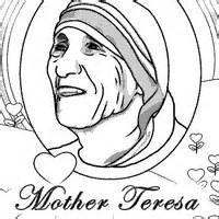 Mother Teresa Coloring Page Sketch Template Mother Teresa Coloring Pages National Women S History Month