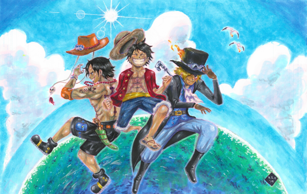 Download One Piece Luffy Ace Sabo Wallpaper Hd Pics Global Anime Luffy Ace Sabo One Piece Luffy Ace Sabo