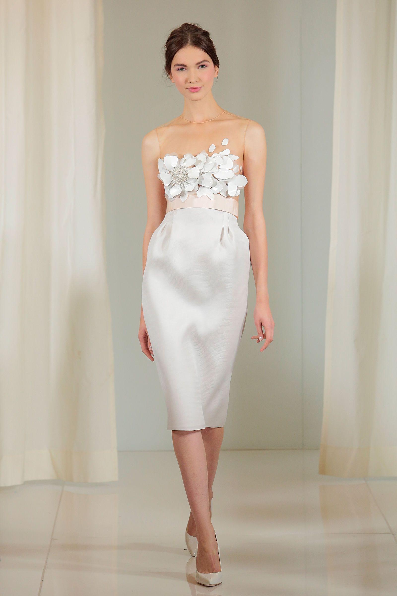 The+Best+Short+Wedding+Dresses+at+Bridal+Fashion+Week+  - ELLE.com