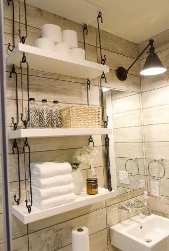 Ist Ihr kleines Badezimmer überfüllt? Experte Heimwerker teilt 30 besten Badezimmer Organisation Hacks