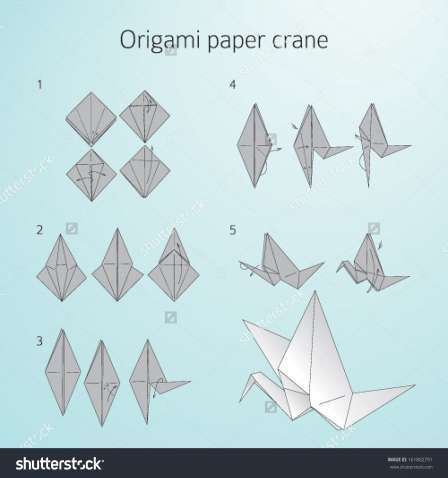 Origami Paper Crane Diagram Fender Stratocaster Noiseless Pickup Wiring Embroidery Blog Swan Simple Helicopter