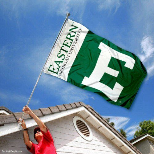 Eastern Michigan Banner Flag EMU Double Sided