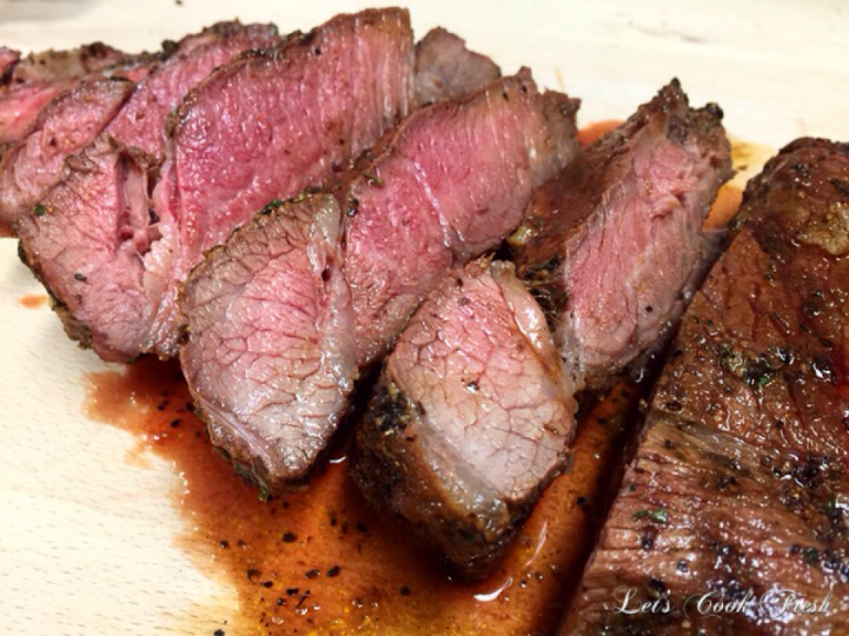 Herb Crusted Pan-Fried London Broil | Recipe | Butter, Dry ...