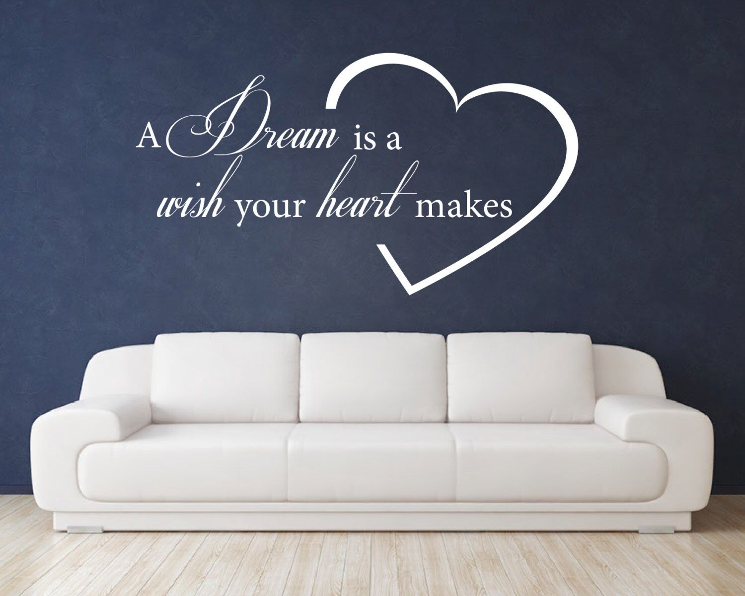 Family quote wall decal love wall decal a dream is a wish your
