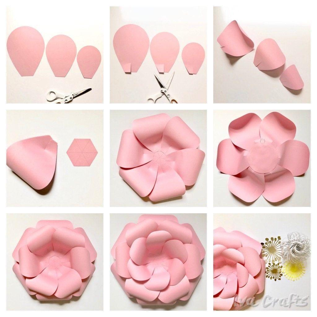 Paper Flower Guide | DIY Paper Crafts | Large Paper Flower Tutorial #largepaperflowers
