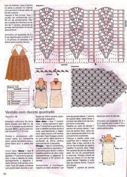 Tecendo e Criando Arte: Vestido | Más teji2 con patrones, fáciles de ...