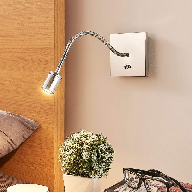 LED Deckenleuchte Duarte Gebogen Acryl Streifen Chrom Dimmbar Lampenwelt Flur