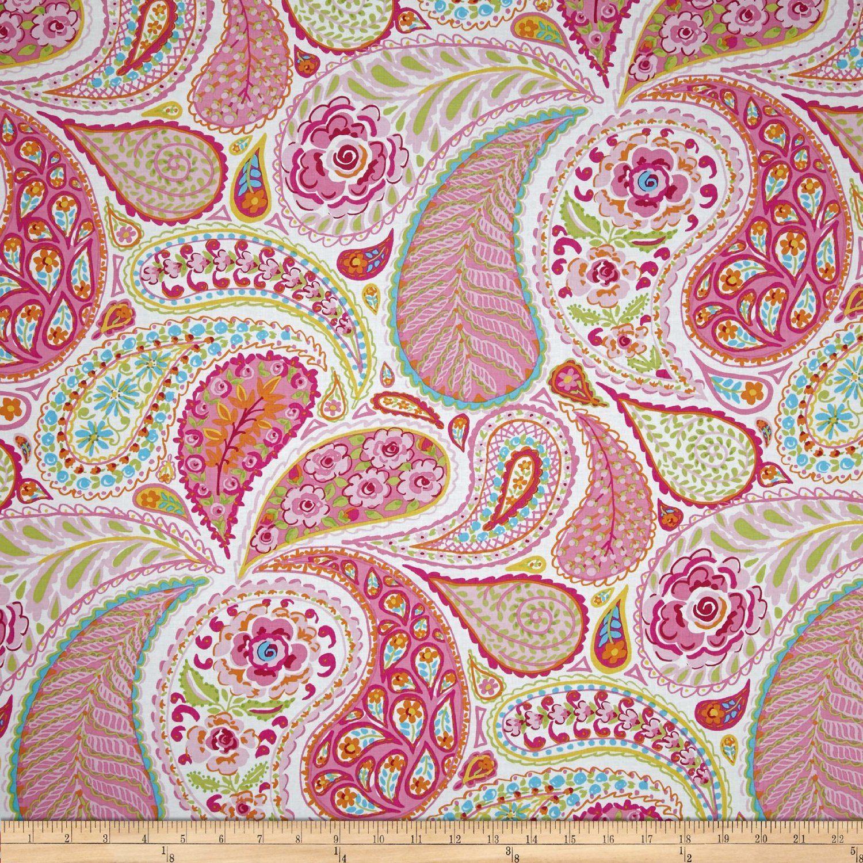 Amazon.com: Haute Girls Paisley Pink Fabric