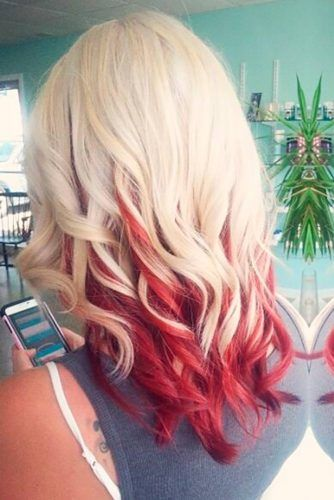 30 Beautiful Red Ombre Hair Red Ombre Hair Red Blonde Hair Undercolor Hair
