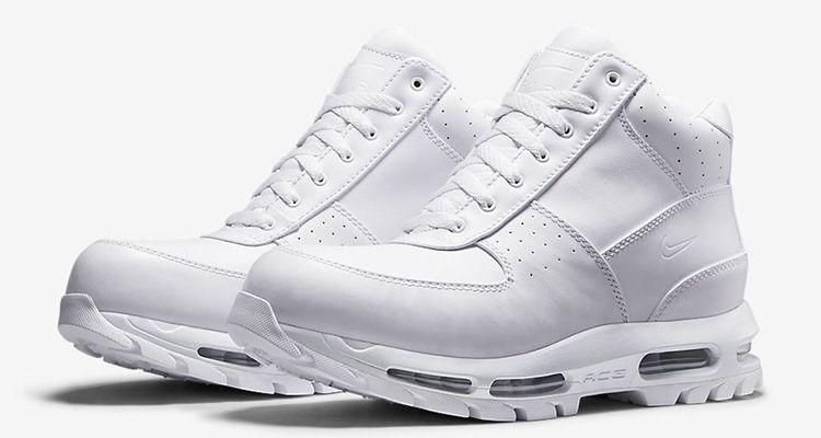 Nike Air Max Goadome ACG Leather Boot Triple White NWT