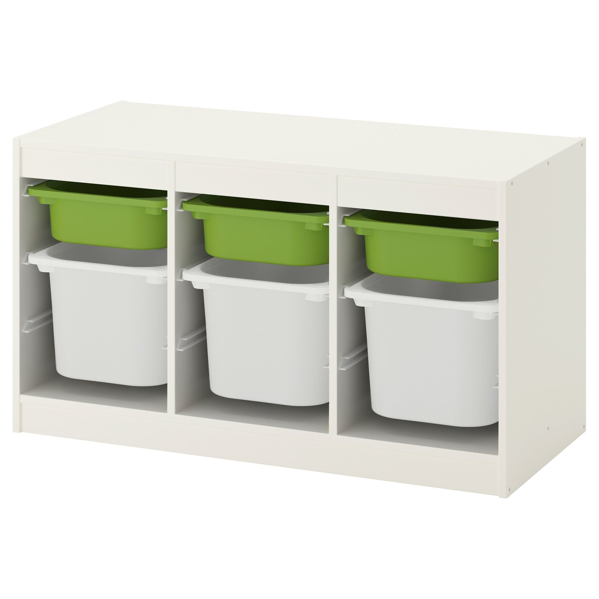 Trofast Storage Combination With Boxes White Green