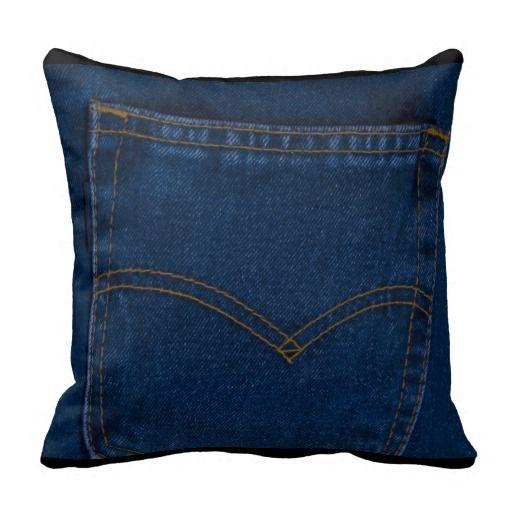 blue jeans pillows