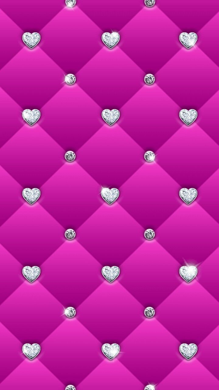 Pink and silver sparkly iphone walls pinterest for Pink and silver wallpaper