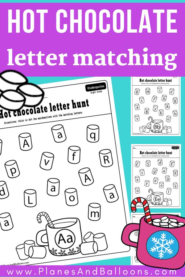 Winter Letter Matching Worksheets For Each Letter Of The Alphabet Alphabet  Activities Preschool, Literacy Activities Kindergarten, Letter Activities  Preschool
