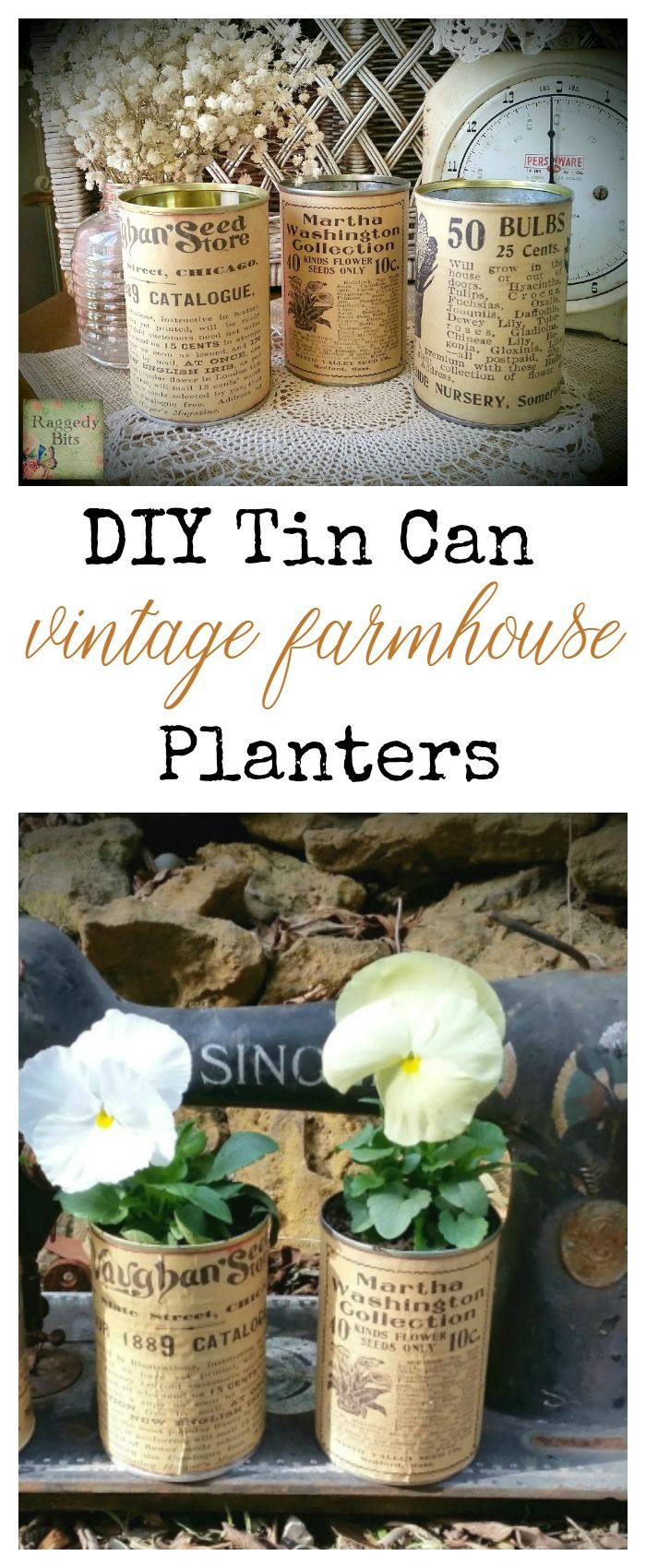 Tin can tinker raggedy bits blog adventures pinterest latas manualidades y bricolaje - Manualidades y bricolaje ...