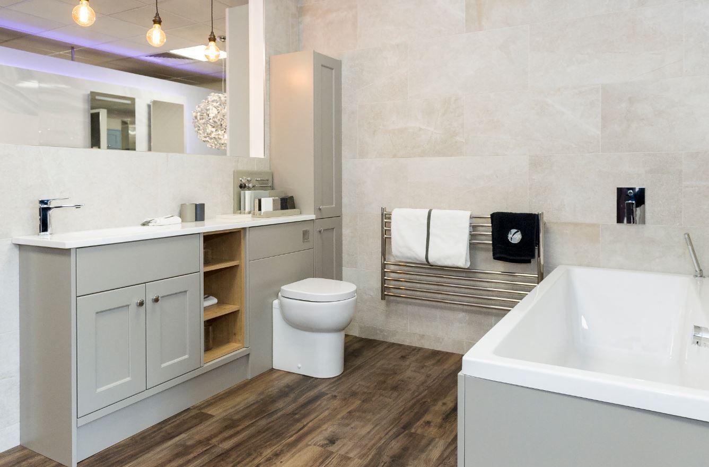 Built In Toilet Sink And Bathroom Storage Bathroom Bathroom Storage Living Spaces