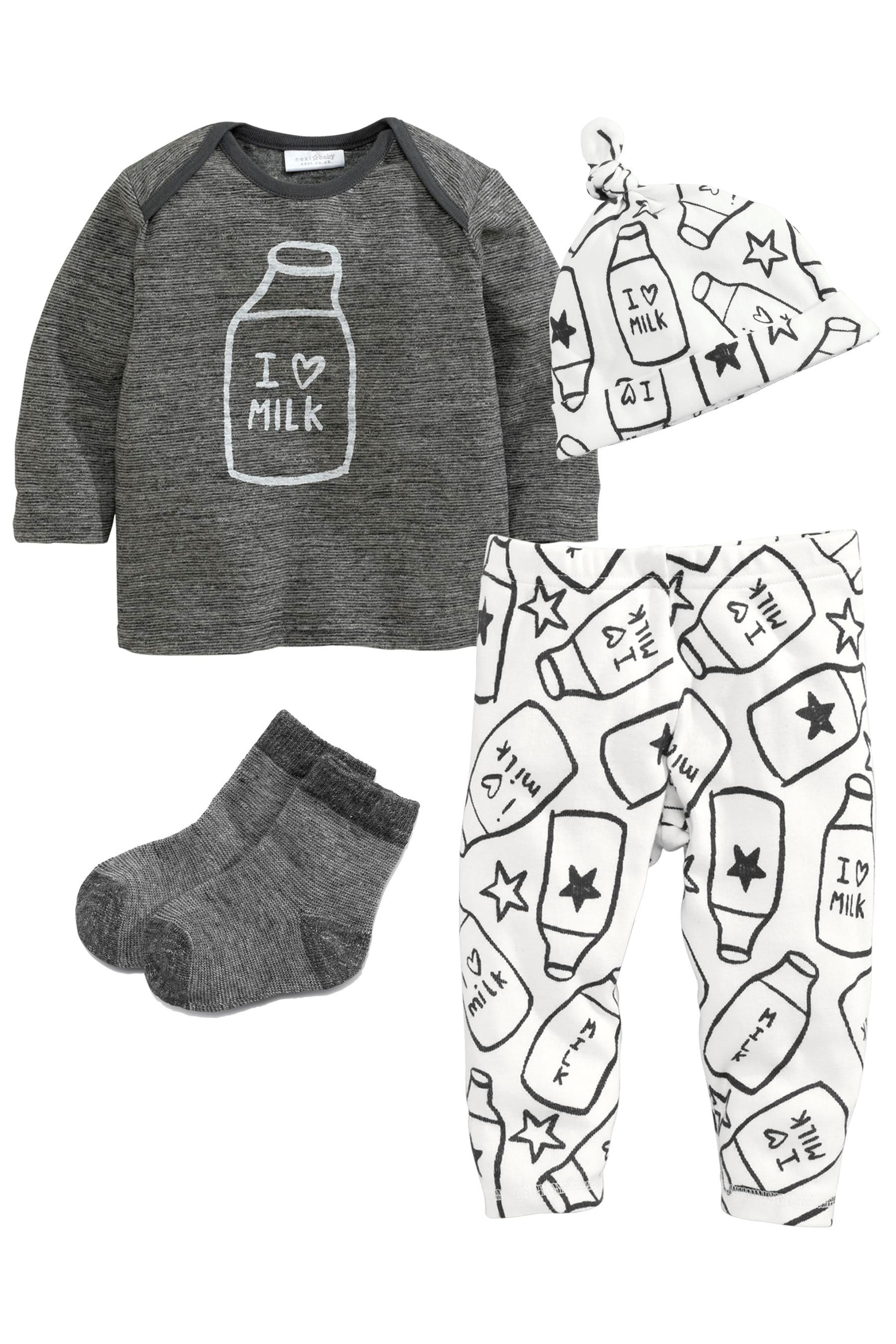 Buy Grey Four Piece Milk Set 0 18mths from the Next UK online shop