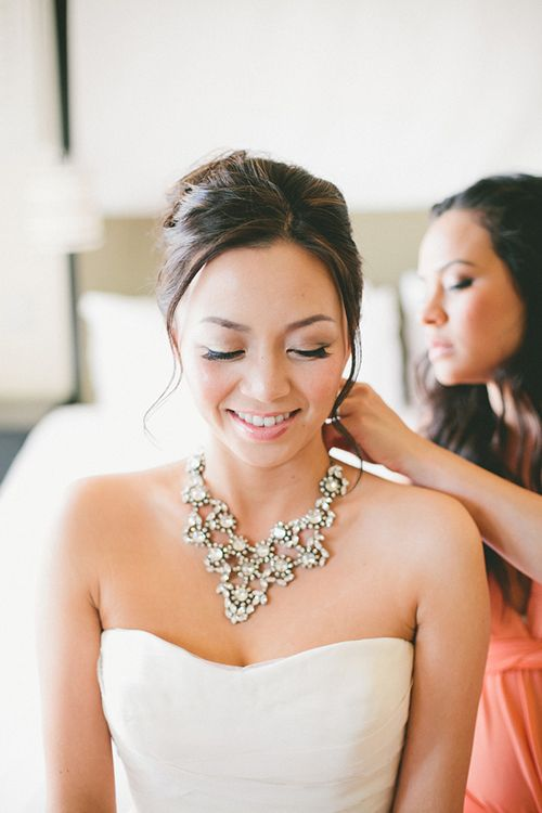 A Jcrew Necklace That Looks Great With Strapless Wedding Dress Onelovephoto Brides