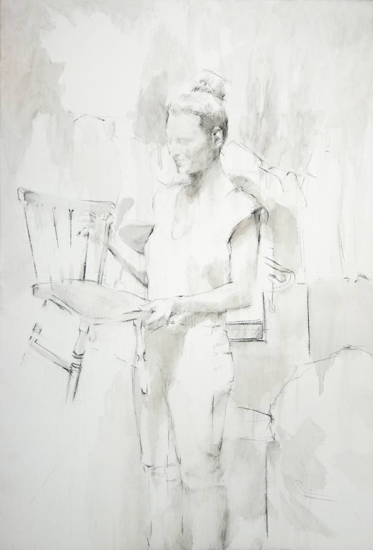 Untitled | Oil and charcoal on canvas, 130x89 cm | 2005