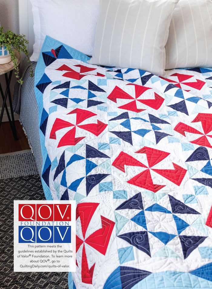 Ribbons of Valor Quilt Pattern Download in 2020 Quilt