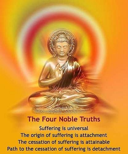 These are the 4 Noble Truths. The 4 Noble Truths were created by ...