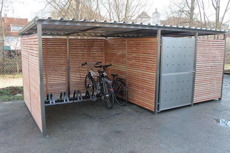 Garage Fur Fahrrad Holz Douglasie Fahrradgarage Fahrrad