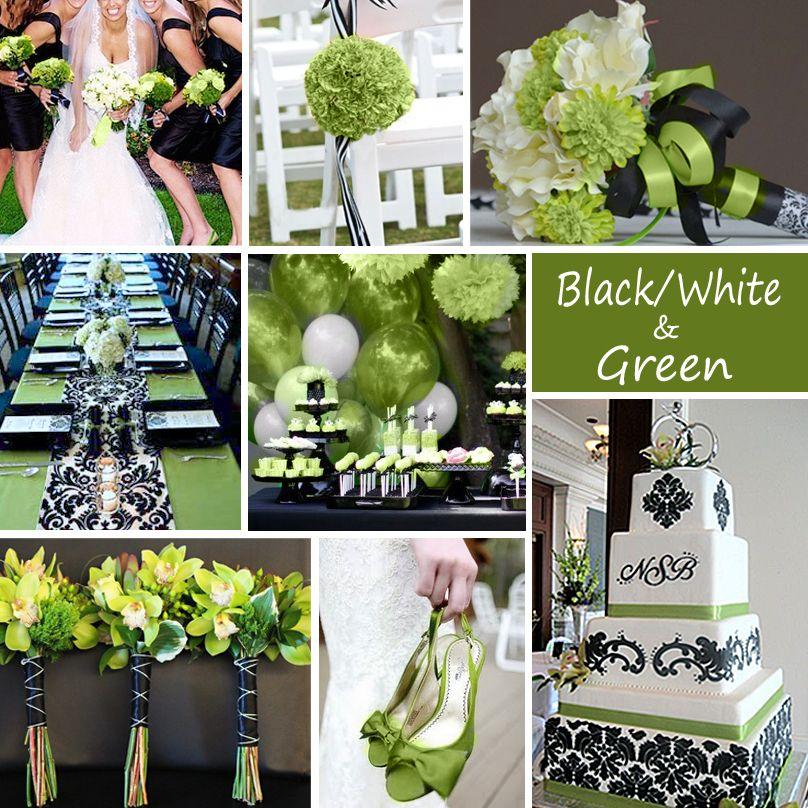 Black White And Green Wedding Colors Weddingplanning