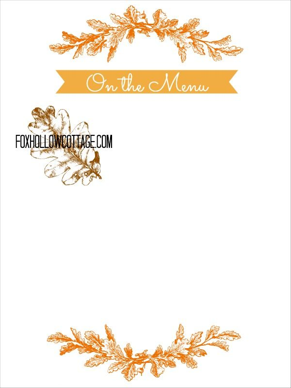 Thanksgiving Free Printable Series u2013 Menu Board Menu boards - formal dinner menu template