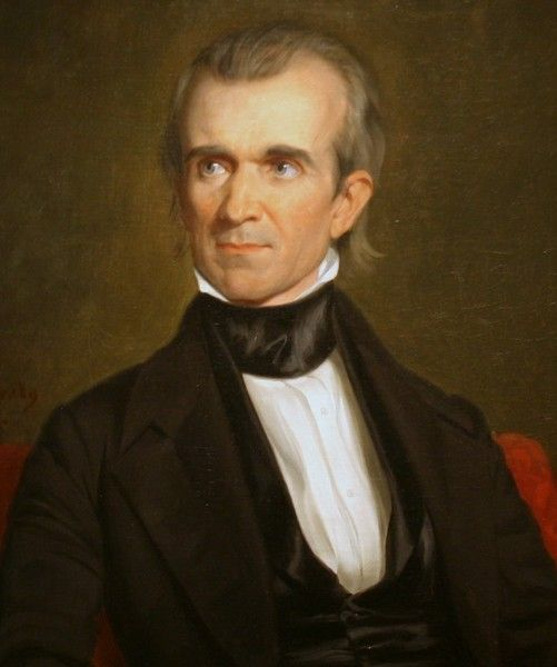 James Knox Polk was born November 2, 1795 in Pineville, NC, and died June 15, 1849 in Nashville, TN. He served as 11th President of the United States from March 4, 1845 to March 4, 1849, serving one full term. He was affiliated with the Democratic party. His vice-president was George Mifflin Dallas. His first lady was Sarah (Childress) Polk.