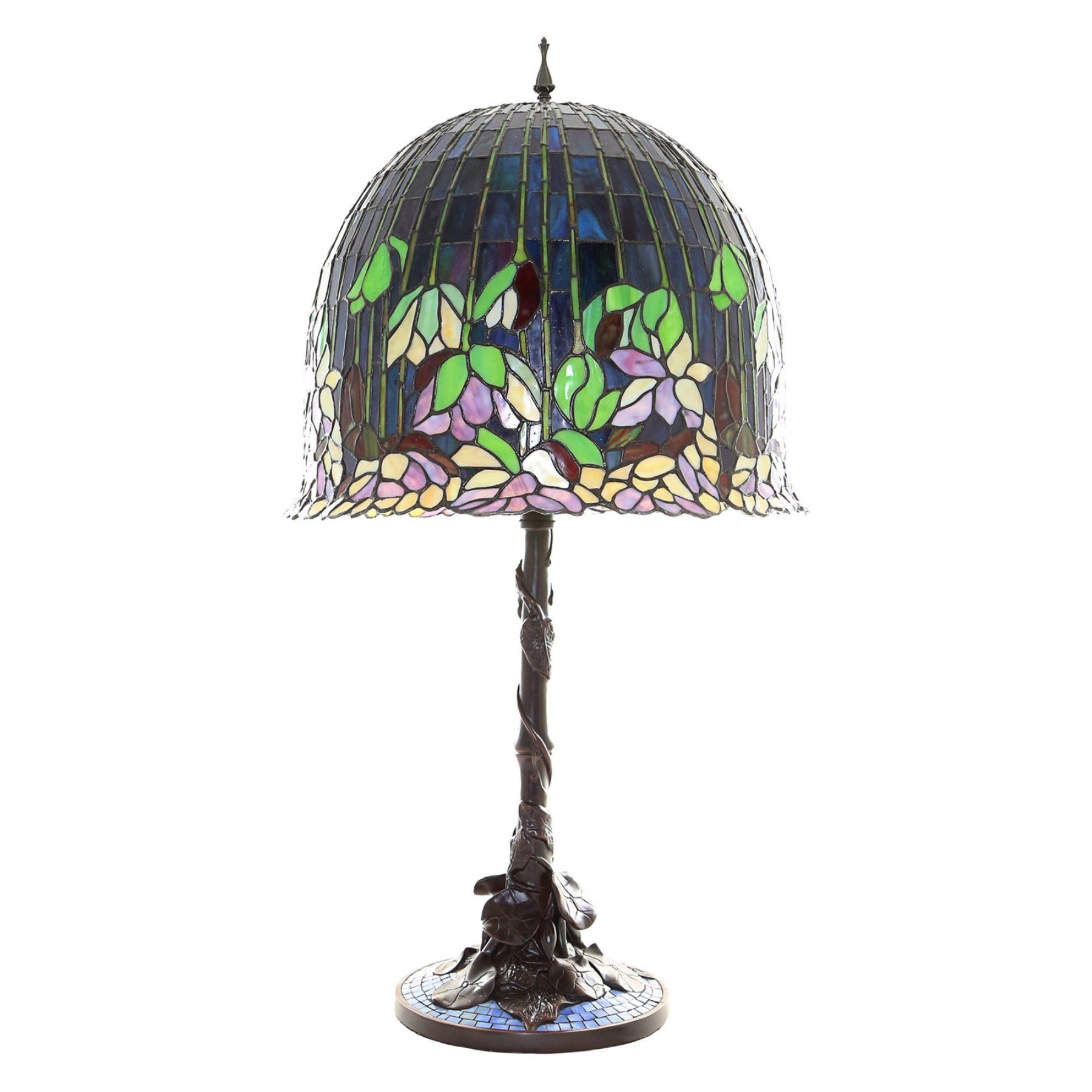 River Of Goods Tiffany Style Flowering Lotus Table Lamp Tiffany