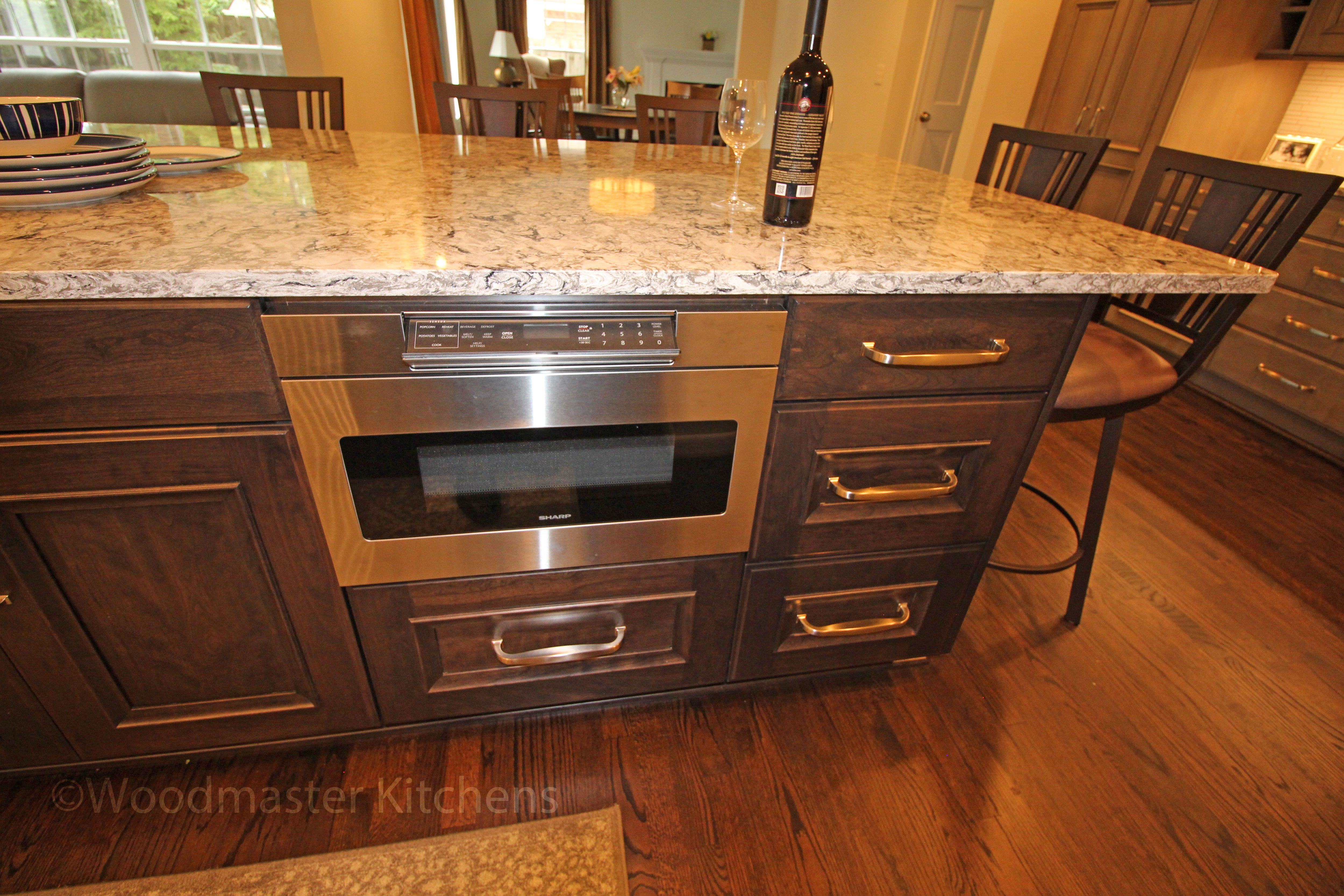 This traditional style kitchen design offers a warm inviting