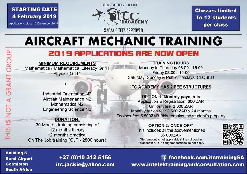 Aircraft Mechanic Job Vacancies In South Africa di 2020